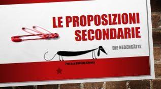 Le proposizioni secondarie – causali